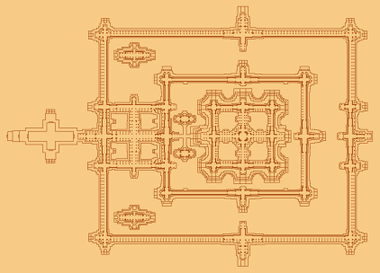 Detailed plan of the central structure.