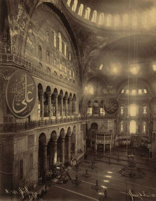 Circa 1900 photograph, from its time as a mosque.