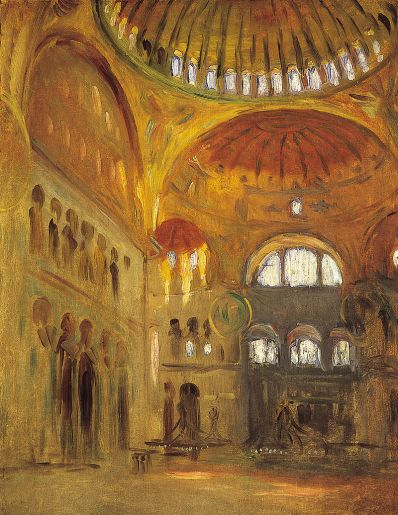 Interior of the Hagia Sophia by John Singer Sargent, 1891