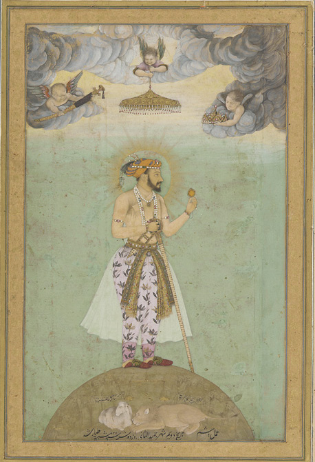 """""""Shah Jahan on a globe"""" from the Smithsonian Institution"""